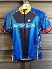Hincapie Men's Ride For Chai Cycling Jersey Large Blue Yellow Full Zip