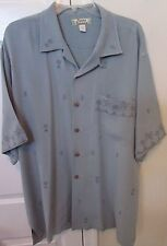Tommy Bahama 100% Silk Camp Shirt Large PIneapple Design EUC
