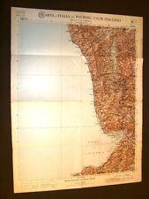 Grande carta geografica del 1909 Cosenza, Pizzo Paola Monteleone Calabria T.C.I.