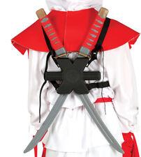 COPPIA di plastica Ninja SAMURAI SPADE DEADPOOL Armi Halloween Fancy Dress