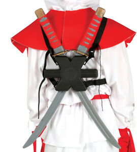 Pair Of Ninja Samurai Sword Deadpool Swords Weapons Halloween Fancy Dress Prop