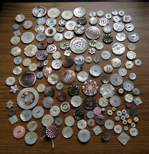 146 ANTIQUE MOTHER OF PEARL & ABALONE BUTTONS - Great Fashion Eclectic Group