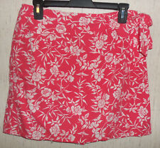 EXCELLENT WOMENS WHITE STAG CORAL FLORAL PRINT SKORT  SIZE 8
