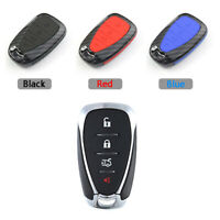 Carbon Fiber Design Shell+Silicone Cover Holder Fob Case For Holden Remote Key D