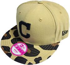 New Era Cleveland Indios Estampado Safari GORRA SNAPBACK BLACK 9fifty Béisbol