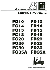 BEST Mitsubishi Forklift FG15 FD15 FG18 FD18 SERVICE REPAIR SHOP MANUAL PDF CD