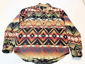Polo Ralph Lauren Chin Strap  Southwestern Navajo Beacon  Cotton Shirt L