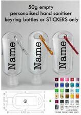 Personalised Refillable Empty Bottle 50ml Travel Liquid Sanitizer Bottles/Decal