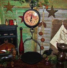 Primitive Antique Vtg Style Farmhouse WEIGHING SCALE Hanging Tray XMAS GIFT