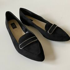 JONES NEW YORK Steff Black Kid Suede Slip-on Loafers Shoes Flats 7.5