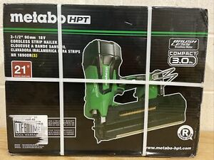 METABO HPT NR1890DR(s) 18V 21-Degree 3-1/2-in Cordless Strip Nailer NEW