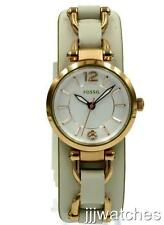 New Fossil Women Georgia Artisan Rose Gold Dress Watch 27mm ES3934 $125