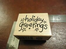 HOLIDAY GREETINGS! RUBBER STAMP QUOTES SAYINGS HOLIDAYS STARS WINTER CHRISTMAS