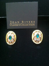 The Origanal 1st JOAN RIVERS Fabrerge Style Egg Clip Earrings - New in Box