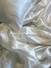4 pcs Mulberry 100% silk charmeuse sheet set Cal King Seamless deep pocket
