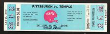 9/24 1977 PITTSBURGH VS. TEMPLE UNUSED MINT FULL TICKET VETERAN'S STADIUM