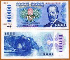Czechoslovakia, 1000 Korun, 1985, Pick 98, Unc > the last, Scarce