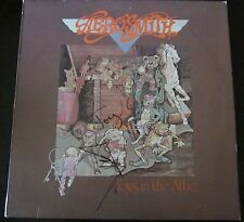 "AEROSMITH JOEY KRAMER TOM HAMILTON SIGNED VINTAGE ""TOYS IN THE ATTIC"" LP RECORD"