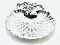 Stunning Antique Reed & Barton Footed Scallop candy/ Fruit Dish Silver Plated