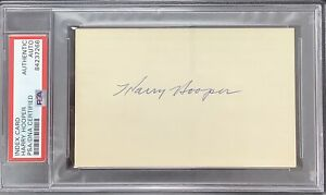 Harry Hooper Signed Index Card Baseball Autograph Boston Red Sox HOF PSA/DNA