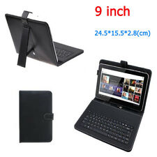 Black PU Leather Micro USB Keyboard Case Carry Case For 9 Inch Android Tablet PC