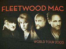 Vtg 2003 Fleetwood Mac Concert Band World Tour Men's T-Shirt Size Medium