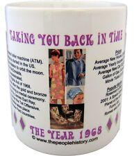 1968 Year In History Coffee Mug Includes Gift Box Born In 1968 Birthday Gift