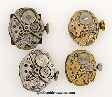 BULOVA SWISS LEVER WRISTWATCH MOVEMENTS JOB LOT OF 4 SPARES OR REPAIR NUMBER 056