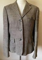 Ralph Lauren LRL Blazer 100% LINEN Size 10 Riding Jacket Houndstooth Womens $259