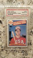 1985 Topps Mark McGwire #401 Baseball Card PSA 8