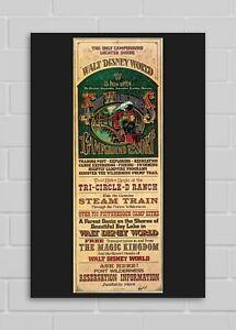 Disney World Fort Wilderness Resort Early 70s Full Poster