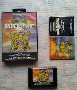 Genuine Sega Mega Drive TMNT The Hyperstone Heist KONAMI Complete ! Working !