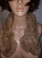 NWOT Caramel Beige Rabbit Fur Scarf Stole for Girls Teen & Woman *