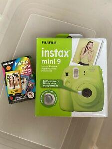Fujifilm Instax Mini 9 - Lime Green Instant Film Camera Plus Fuji Film