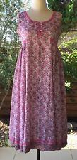 Anokhi Sleeveless Sufi Dress, 100% Cotton, Lined