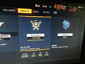 ILL MOD YOUR BLACK OPS 3 ACCOUNT | LVL 1000 MP | DARK MATTER | WEPON BRIBES