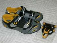 New Shimano SPD Cycling Bike Shoes-Black Yellow Silver-M082WY with Cleat Kit 4.5