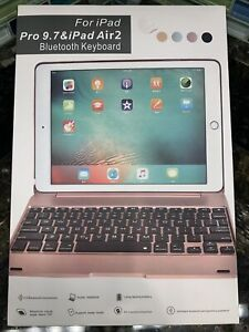 Case With Bluetooth Keyboard Cover For iPad Pro 9.7 & iPad Air 2 - Black & Pink