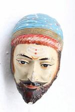Vintage Old Hand Crafted POP India's Pride Shivaji Rao Head Burst Statue NH3723