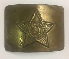 Vintage Soviet Russian Army Laiton Boucle De Ceinture Avec étoile