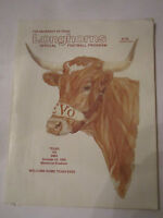 1982 TEXAS VS SMU - OFFICIAL FOOTBALL GAME PROGRAM - TUB FP