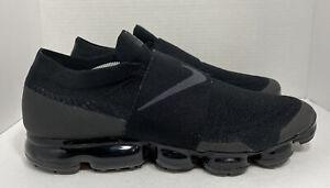 Nike Air Vapormax Moc Triple Black Max Flyknit  AH3397-004 Anthracite Sz 15