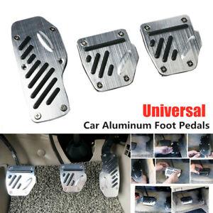 3PCS Car Aluminum Alloy Accelerator Pedal Foot Pedals Pad Cover For Brake Clutch