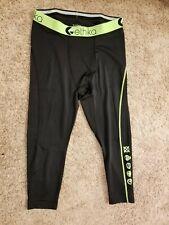 Ethika Men's L Compression 3/4 Tights Subzero Green Black Performance Underwear