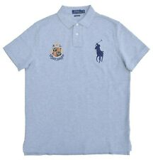 Ralph Lauren-camiseta polo polo Big pony-Custom slim fit-gris-talla L-nuevo