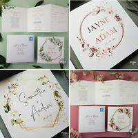 Personalised Trifold Wedding Invitations With Envelopes Or Evening Invites