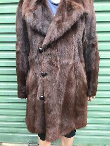 Men's Russian Marmotte vintage fur coat size L