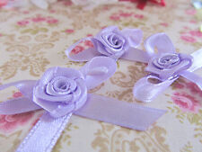 80 Hand Made Satin Ribbon Bow & Rose Top/Flower/Craft/Trim/Sewing F26-Pick Color