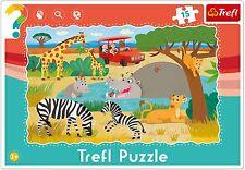 Trefl 15 piezas bebé niños unisex Infantil Safari Animales Marco Rompecabezas De Piso
