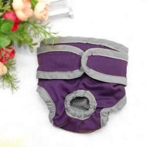 Reusable Pet Dog Sanitary Nappy Diaper Soft Cotton Dog Pants Pad Menstrual S-XL